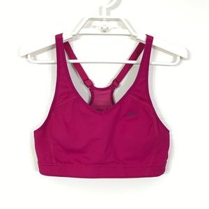 Nike Hot Pink Adjustable Straps Sports Bra - M